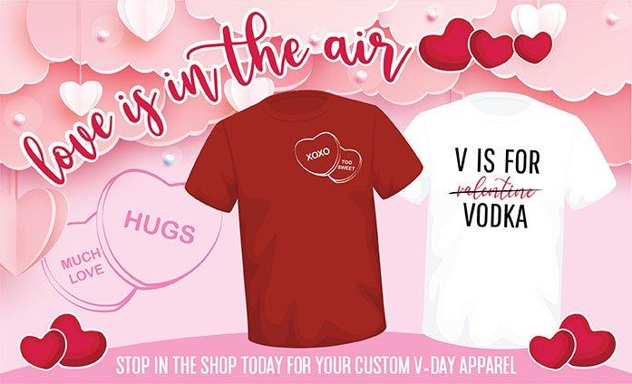 Custom Valentines Day Apparel