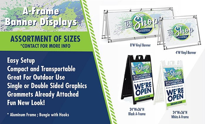 A-Frame Banner Displays in Bolingbrook IL